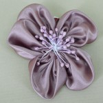 Blush Aubergine Satin Flower Hair Clip - HFL041